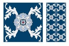 Εκλεκτής ποιότητας παλαιά πορτογαλικά άνευ ραφής κεραμίδια σχεδίων σχεδίου στη διανυσματική απεικόνιση Στοκ φωτογραφία με δικαίωμα ελεύθερης χρήσης