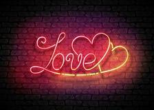 Εκλεκτής ποιότητας πινακίδα πυράκτωσης με την επιγραφή αγάπης Στοκ Φωτογραφία
