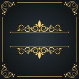 Εκλεκτής ποιότητας πλαίσιο γαμήλιων διακοσμήσεων, κάρτα πρόσκλησης, γραφική πολυτέλεια, κείμενο εδώ Στοκ Εικόνες
