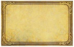 Εκλεκτής ποιότητας πλαίσιο καρτών Στοκ φωτογραφία με δικαίωμα ελεύθερης χρήσης