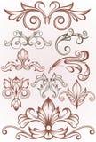 Εκλεκτής ποιότητας πλαισίων συνόρων κύλινδρος φύλλων διακοσμήσεων δερματοστιξιών floral ελεύθερη απεικόνιση δικαιώματος