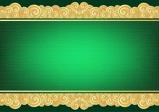 Εκλεκτής ποιότητας πράσινη και χρυσή κάρτα ελεύθερη απεικόνιση δικαιώματος