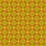 Εκλεκτής ποιότητας πράσινο αφηρημένο άνευ ραφής σχέδιο ύφους eco διανυσματική απεικόνιση