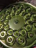 Εκλεκτής ποιότητας πράσινο γυαλί Στοκ εικόνα με δικαίωμα ελεύθερης χρήσης
