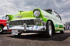 Εκλεκτής ποιότητας πράσινο Bel Air Chevrolet του 1956 Στοκ Εικόνα