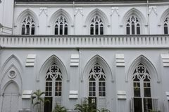 Εκλεκτής ποιότητας πρόσοψη εκκλησιών οικοδόμησης Στοκ εικόνα με δικαίωμα ελεύθερης χρήσης