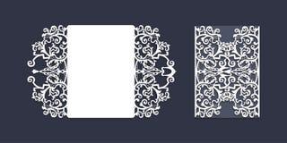 Εκλεκτής ποιότητας πρότυπο γαμήλιας πρόσκλησης περικοπών λέιζερ στοκ εικόνα με δικαίωμα ελεύθερης χρήσης
