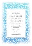 Εκλεκτής ποιότητας πρότυπο γαμήλιας πρόσκλησης Στοκ εικόνα με δικαίωμα ελεύθερης χρήσης