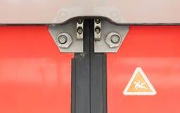 Εκλεκτής ποιότητας πόρτα στο διαμέρισμα τραίνων Στοκ εικόνα με δικαίωμα ελεύθερης χρήσης