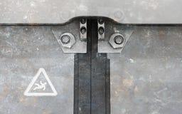 Εκλεκτής ποιότητας πόρτα στο διαμέρισμα τραίνων Στοκ φωτογραφία με δικαίωμα ελεύθερης χρήσης