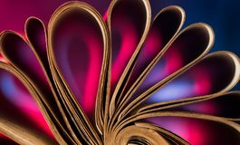 Εκλεκτής ποιότητας σελίδες βιβλίων Στοκ Φωτογραφία