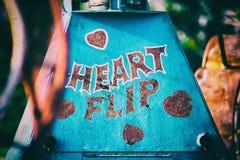 Εκλεκτής ποιότητας σημάδι γύρου καρναβαλιού καρδιών Στοκ Φωτογραφίες