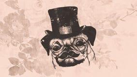 Εκλεκτής ποιότητας σκυλάκι υποβάθρου Στοκ εικόνα με δικαίωμα ελεύθερης χρήσης