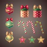 Εκλεκτής ποιότητας στοιχεία σχεδίου Χριστουγέννων Στοκ φωτογραφία με δικαίωμα ελεύθερης χρήσης