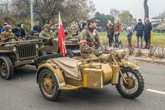 Εκλεκτής ποιότητας στρατιωτική μοτοσικλέτα στοκ φωτογραφίες