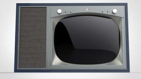 Εκλεκτής ποιότητας συσκευή τηλεόρασης παλιού σχολείου διανυσματική απεικόνιση