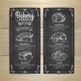Εκλεκτής ποιότητας σχέδιο επιλογών αρτοποιείων σχεδίων κιμωλίας διανυσματική απεικόνιση
