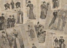 Εκλεκτής ποιότητας σύσταση εφημερίδων μόδας απεικόνιση αποθεμάτων