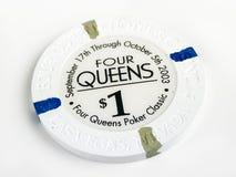 Εκλεκτής ποιότητας τέσσερις βασίλισσες Hotel & Casino $1 τσιπ πόκερ Στοκ Φωτογραφία