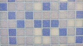 Εκλεκτής ποιότητας τετραγωνικός χλωμός - μπλε και γκρίζα κεραμίδια Στοκ Εικόνα