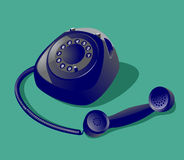 Εκλεκτής ποιότητας τηλέφωνο Στοκ Φωτογραφία