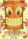 Εκλεκτής ποιότητας της Χαβάης κάρτα Tiki Στοκ Φωτογραφία