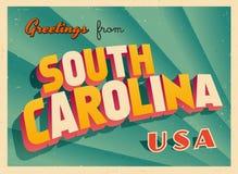 Εκλεκτής ποιότητας τουριστική ευχετήρια κάρτα από τη νότια Καρολίνα ελεύθερη απεικόνιση δικαιώματος
