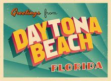 Εκλεκτής ποιότητας τουριστική ευχετήρια κάρτα από Daytona Beach, Φλώριδα διανυσματική απεικόνιση