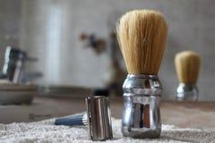 Εκλεκτής ποιότητας υγρά εργαλεία ξυρίσματος Στοκ Εικόνες