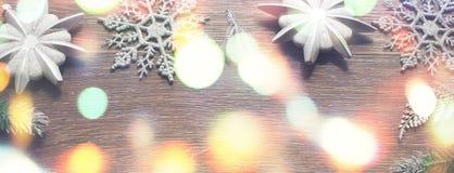 Εκλεκτής ποιότητας υπόβαθρο Χριστουγέννων εμβλημάτων διακοσμητικό Στοκ φωτογραφία με δικαίωμα ελεύθερης χρήσης