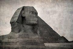 Εκλεκτής ποιότητας φωτογραφία Sphinx Στοκ Εικόνες