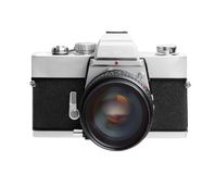Εκλεκτής ποιότητας φωτογραφική μηχανή που απομονώνεται στην άσπρη ανασκόπηση DSLR Στοκ φωτογραφία με δικαίωμα ελεύθερης χρήσης