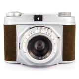 Εκλεκτής ποιότητας φωτογραφική μηχανή φωτογραφιών που απομονώνεται στο λευκό Στοκ Φωτογραφία