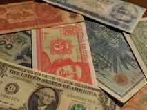 εκλεκτής ποιότητας χρήματα των κομμουνιστικών χωρών και των σημειώσεων δολαρίων στοκ φωτογραφία με δικαίωμα ελεύθερης χρήσης