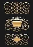 Εκλεκτής ποιότητας χρυσό σύντομο χρονογράφημα καθορισμένο Στοκ φωτογραφία με δικαίωμα ελεύθερης χρήσης