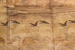Εκλεκτής ποιότητας χρυσό threa κιμονό μεταξιού tradiVintage παραδοσιακό ιαπωνικό Στοκ εικόνα με δικαίωμα ελεύθερης χρήσης