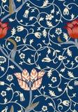 Εκλεκτής ποιότητας floral άνευ ραφής σχέδιο στο σκοτεινό υπόβαθρο επίσης corel σύρετε το διάνυσμα απεικόνισης ελεύθερη απεικόνιση δικαιώματος