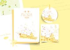 Εκλεκτής ποιότητας Floral χαριτωμένη ζωική κάρτα στο ύφος watercolor στοκ φωτογραφία με δικαίωμα ελεύθερης χρήσης