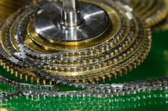 Εκλεκτής ποιότητας Fusee ρολογιών τσεπών αλυσίδα που κουλουριάζεται γύρω από το Fusee κώνο Στοκ φωτογραφία με δικαίωμα ελεύθερης χρήσης