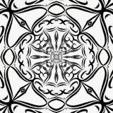Εκλεκτής ποιότητας pixelisation επίδρασης κεραμιδιών δαντελλών διαγώνιο μονοχρωματικό, εθνικό διακόσμηση ή tatoo Στοκ Φωτογραφίες
