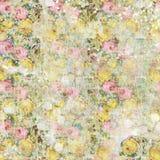 Εκλεκτής ποιότητας shabby χρωματισμένο floral άνευ ραφής σχέδιο υποβάθρου τριαντάφυλλων απεικόνιση αποθεμάτων