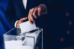 Εκλογές στο Ευρωπαϊκό Κοινοβούλιο Εκλογές της ΕΕ στοκ εικόνα