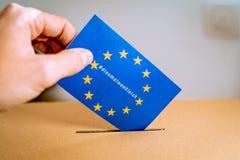 Εκλογή στην Ευρωπαϊκή Ένωση - thistimeimvoting εκστρατεία με τη γερμανική εκδοχή diesmalwaehleich hashtag στοκ εικόνες με δικαίωμα ελεύθερης χρήσης