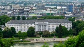 Εκλογικό παλάτι σε Koblenz στο Ρήνο στη Γερμανία στοκ εικόνα με δικαίωμα ελεύθερης χρήσης