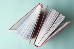 εκμάθηση έννοιας Λέσχη ανάγνωσης κορυφαία όψη βιβλίων Εκμάθηση επιτυχίας Στοκ Φωτογραφίες