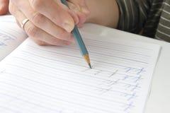 εκμάθηση να γράφει Στοκ εικόνες με δικαίωμα ελεύθερης χρήσης