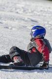 Εκμάθηση να κάνει σκι Στοκ φωτογραφία με δικαίωμα ελεύθερης χρήσης