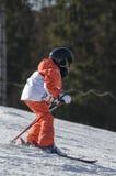 Εκμάθηση να κάνει σκι Στοκ φωτογραφίες με δικαίωμα ελεύθερης χρήσης