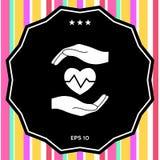 εκμετάλλευση καρδιών χεριών μαύρη ιατρική προστασία συκωτιού εικονιδίων αλλαγής απλά άσπρη Στοκ φωτογραφία με δικαίωμα ελεύθερης χρήσης