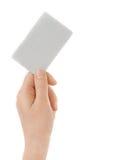 εκμετάλλευση πιστωτικών θηλυκή χεριών καρτών στοκ εικόνες
